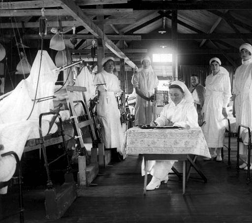 British hospital at the Western front