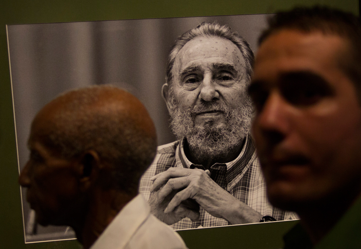 photograph of former Cuban President Fidel Castro during a photo exhibit of Castro