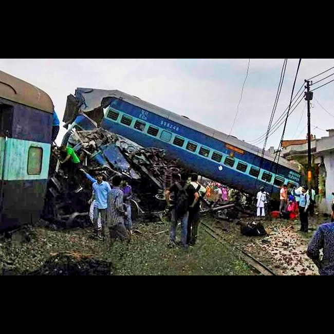 A look at disastrous rail accidents of India in 2017