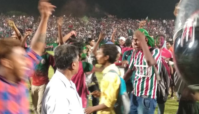 Mohunbagan wins calcutta football league 8