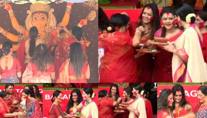 রঙিন চালতাবাগানে সিঁদুর বরণে তারকা মেলা