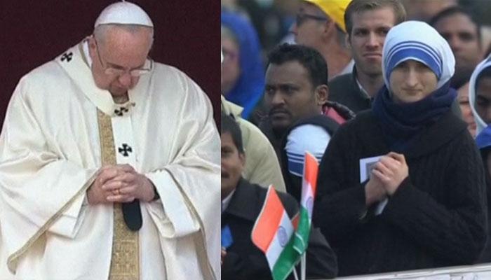 ভারতীয় ফাদার ও সিস্টারকে 'সেন্ট' ঘোষণা করলেন পোপ