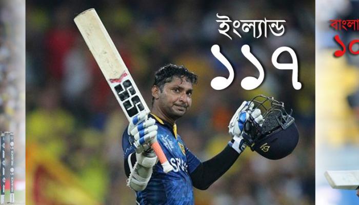 শিখরে সাঙ্গা, একমাত্র ক্রিকেটার যিনি বিশ্বকাপে সেঞ্চুরির হ্যাট্রিক করলেন