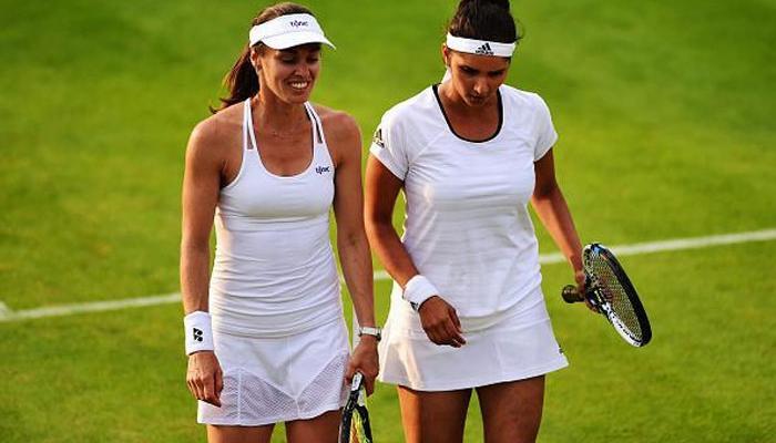 #Wimbledon2015 শেষ আটে শীর্ষ বাছাই সানিয়া-হিঙ্গিস