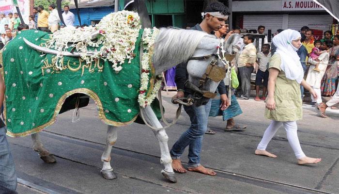 মহল্লায় মহল্লায় আজ তাজিয়া -শোভাযাত্রার প্রস্তুতি