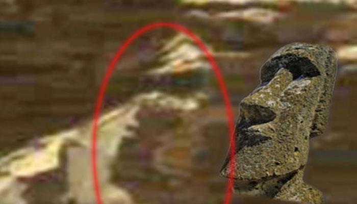 ইস্টার আইল্যান্ডের মূর্তির ন্যায় একটি মূর্তি রয়েছে মঙ্গলে