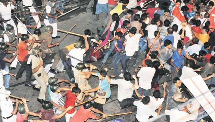 সিপিএম-তৃণমূল সংঘর্ষে ফের উত্তপ্ত কলকাতার কসবা