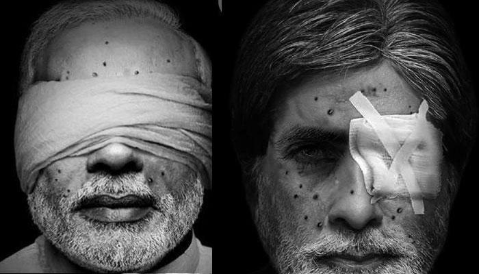 কাশ্মীরে ছররা ব্যবহারের বিরুদ্ধে পাকিস্তানের অভিনব প্রতিবাদ