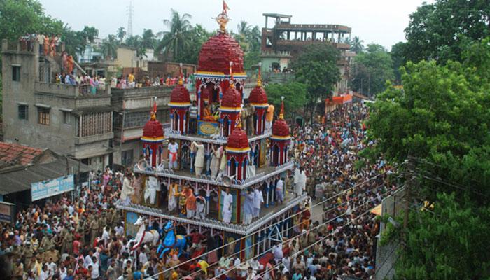 রথযাত্রায় লোকারন্য মাহেশ, মহিষাদল, গুপ্তিপাড়া