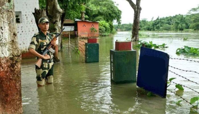 দুর্যোগেও সীমান্ত রক্ষায় অবিচল BSF
