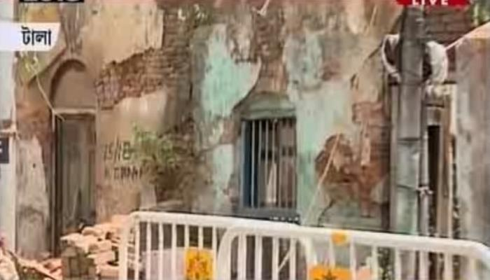 টালায় বিটি রোডের উপর ভেঙে পড়ল বাড়ি, মৃত্যু ছাত্রীর
