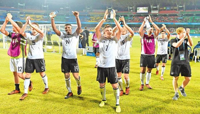 অনূর্ধ্ব ১৭ ফুটবল বিশ্বকাপে প্রথম দল হিসেবে শেষ আটে উঠল জার্মানি