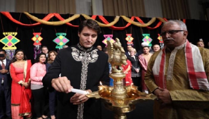 দিওয়ালি 'মুবারক' বলে সমালোচিত কানাডার প্রধানমন্ত্রী
