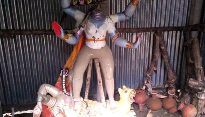 বাংলাদেশে কালী মন্দিরে দুষ্কৃতী তাণ্ডব, ভাঙা হল মূর্তি