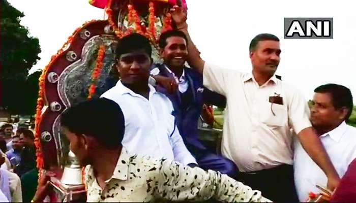 আশি বছর পর ঠাকুর 'শাসিত' গ্রামে কড়া পুলিসি নিরাপত্তায় বেরল দলিত বরযাত্রী দল