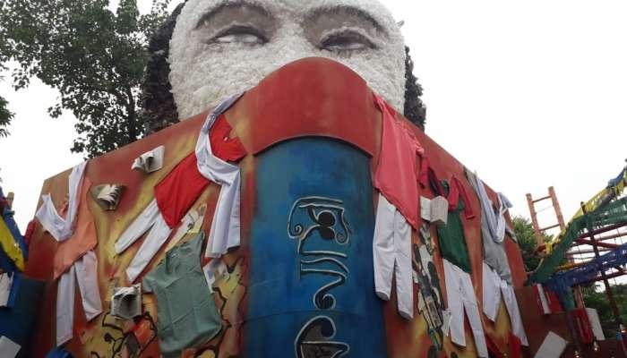 খাঁচাবন্দি জীবন ছেড়ে উত্তরণের পথে কন্যাশ্রীরা, থিম ভাবনায় চমক পাইকপাড়ায়