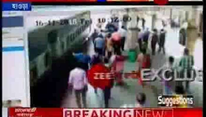 RPF personnel's heroic save a man from going under train at Howrah station
